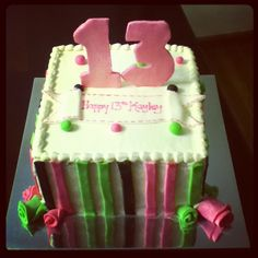13th Birthday Cake