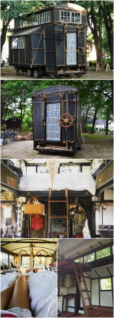 """Resourceful Couple Built a """"Cinematic"""" Tiny House for Just $10,000! Brandon Batchelder and Chloe Barcelou have lived in a lot of different locations, but none of them really felt like """"home."""" As husband and wife, they have spent time in various hotels and apartments and stayed over at friends' homes. They moved many times but never felt they belonged anywhere … except together."""