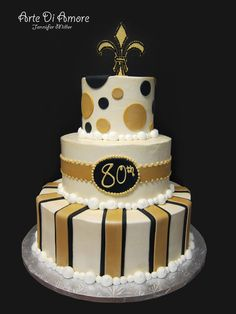 Black and Gold Cake by ~ArteDiAmore