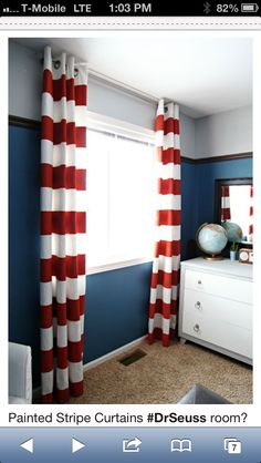 Curtain idea: buy some cheap solid colored material, them stencil on designs in colors I want??