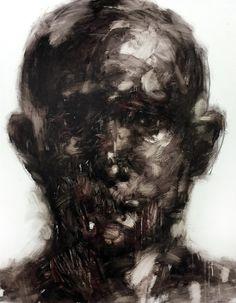KwangHo Shin makes haunting portraits: on Behance