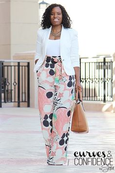 Curves and Confidence | A Miami Style Blogger: Zara Wide-Leg Floral Pants