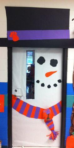 Clemson Snowman Door!