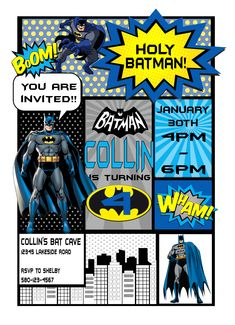 Batman Birthday Invitation Batman Birthday, Batman Party, Custom Birthday Invitations, Birthday Parties, Funny Memes, Party Ideas, Personalized Birthday Invitations, Anniversary Parties, Ideas Party