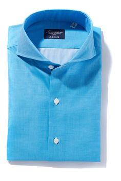 Finamore Innerhofer Blue Oxford Dress Shirt - Mens - Shirts - AXEL'S