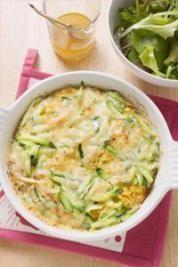 Zucchini flan with Kiri ® - lunch