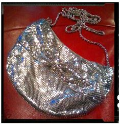 Dotti branded small bag in silver metal mesh. I got this little beauty for $3.50 on a half price sale.
