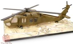 Black Hawk Helicopter Cake by Pink Cake Box
