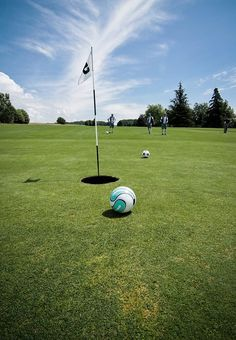 Footgolf -  Soccer & golf lovers unite!  http://learn.captainu.com/2014/02/27/soccer-golf-course-yeah-you-heard-right/