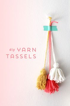 DIY Yarn Tassels | Ann-Marie Loves