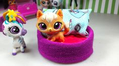 Easy DIY Custom LPS Doll Accessories: How to Make a Tiny Pet Dog Bed ♦ D...
