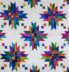 Star Quilt Blocks, Star Quilt Patterns, Star Quilts, Easy Quilts, Bargello Quilts, Jellyroll Quilts, Scrappy Quilts, Quilting Projects, Quilting Designs