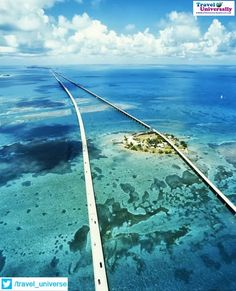 Seven Mile Bridge, Florida Keys  The Seven Mile Bridge is a famous bridge in the Florida Keys, in Monroe County, Florida, United States. It connects Knight's Key (part of the city of Marathon, Florida) in the Middle Keys to Little Duck Key in the Lower Keys.