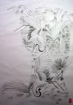 crane_back_piece_tattoo_design_.jpg by yoso tattoo