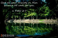 Cast all your anxiety on Him because he cares for you 1 Peter 5:7 Follow the link to read about getting good advice