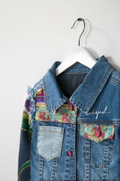The floral embroidered details on this denim jacket are what makes it really special. It looks unsual and handmade but is easy to wear. A good one for the non-conformists, but also a piece which will be a hit with the younger girls and teenagers alike. Hell, we want one!