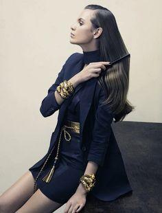 """mmja251995:  """" Follow Fashion Blog: mmja251995  """" Regina Feoktistova By David Slijper For Marie Claire Italia April 2011  """" """""""