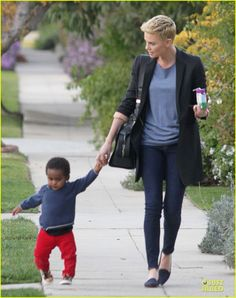great vibe & style // Charlize Theron & Jackson