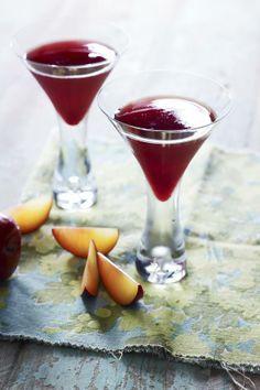 Roasted Plum Martini  #Summerstonefruit  #recipe