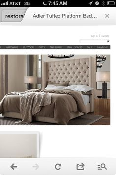Bed from restoration hardware