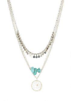 Triple Layer Dream Catcher Necklace - View All Accessories - Accessories - dELiA*s