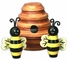DecoArt® Beehive with Bees #claypot #craft