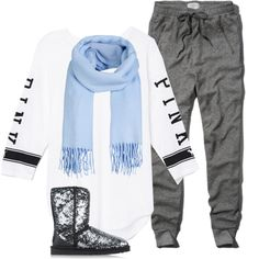 3/1/15 by alfephusgulley on Polyvore featuring polyvore, fashion, style, Victoria's Secret PINK, Abercrombie & Fitch, UGG Australia and ONLY