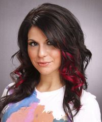 decided what i'm doing to my hair next round... the peek a boo highlights either cherry red or violet, all over black color :)