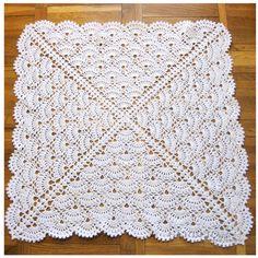 Christening Baby crochet blanket Baby Girl by GerberaHandmade, $75.00