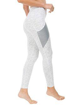 d69f00a3300ac Queenie Ke Women Yoga Leggings Power Flex Mesh Mid-Waist 3 Phone Pocket Gym  Running