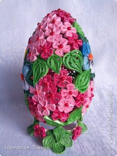 Поделка изделие Пасха Квиллинг Квиллинговые яйца Бумажные полосы фото 7~ Quilled Easter Egg