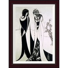 Global Gallery Salome by Aubrey Beardsley Framed Painting Print Size: