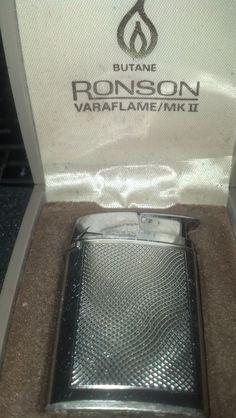 Vintage 1960's Ronson Varaflame MKII Butane Lighter $24.99