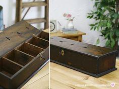 イギリスアンティークオールドパインボックス貯金箱5743 インテリア 雑貨 家具 Antique pine wood ¥22000yen 〆05月10日