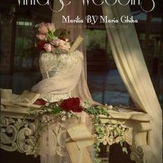 Ένας κόκκινος, ρομαντικός, vintage στολισμός απο τη Μαρία Γκίκα