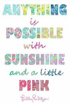# sunshine #pink #lillypultizer