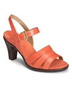 Look what I found on #zulily! Dark Orange Magician Leather Sandal #zulilyfinds
