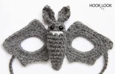 Tuto masque chauve-souris ~ HOOKLOOK. Méli-mélo d'idées en laine et au crochet.