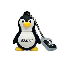 EMTEC M314 Animal Series Aquarium 4 GB USB 2.0 Flash Drive (Penguin)