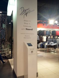 Topshop integrates Pinterest with the in-store holiday shopping experience.