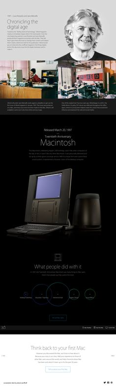 "Apple Mac @30 2014-01-24 off'l Anniversary mini site: USA ""Apple - Thirty Years of Mac"" - page: 1997 reinventing Mag design (by merging Steve Job's favorites: Liberal Arts & Hi-Tech...creating Wired(!) – the unofficial magazine of all things digital or the ""Rolling Stone [mag] of technology""): Louis Rossetto & Jane Metcalfe • http://www.apple.com/30-years/1997"