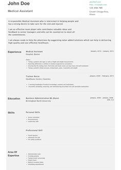 sample resume medical assistant