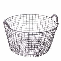 Korbo Classic 35 Basket - Stainless Steel: Korbo's Classic 35 basket is the original and first model that has been in production since 1922. The two strong handles make it ideal for numerous uses in the home or garden.