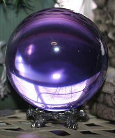 Fata's Vardo:  Amethyst #Crystal #Ball.
