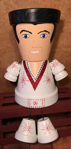 Elvis Presley Clay Pot People Planters The King Of Rock and