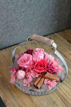 preserved flower pink by GLUCK Floristik