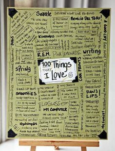 100 things page. This would be good for a lot of different topics.
