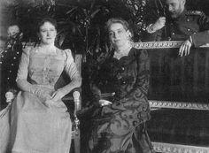 "Grand Duchess Elizaveta Feodorovna ""Ella"", her friend Zinaida Yusupova, and Ella's husband Sergey ~ Ella was the closest friend of Zinaida Yusupova. Felix Yusupov, a murderder of Rasputin, called her ""The Saint"". When Felix killed Rasputin Ella supported Felix, she called Rasputin 'the fraud'."