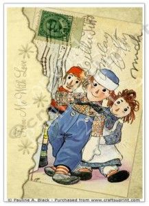 This digital collage sheet of altered ATC-sized Raggedy Ann and Andy postcards: is available in my Etsy shop HERE. Decorated Envelopes, Ann Doll, Envelope Art, Raggedy Ann And Andy, Letter Art, Letters, Mail Art, Love Cards, Vintage Cards