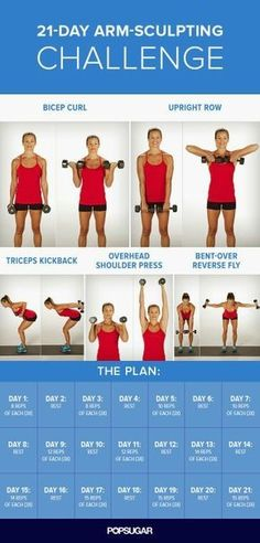 Just in Time For Summer! 21-Day Arm-Sculpting Challenge